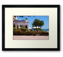 Restaurante Bar Cala LLonga Framed Print