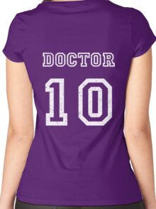 DOCTOR WHO 10th Women's Fitted Scoop T-Shirt