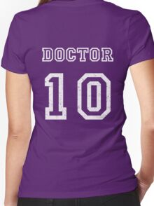 DOCTOR WHO 10th Women's Fitted V-Neck T-Shirt