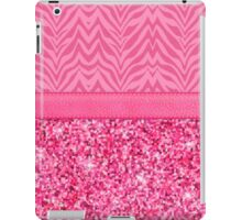 Glitzy Pink Zebra Pattern iPad Case/Skin