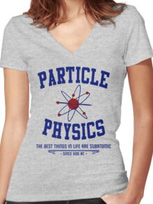 Particle Physics Women's Fitted V-Neck T-Shirt