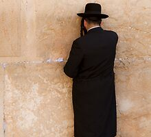 The Western Wall (Wailing Wall),Jerusalem by Miguel De Freitas