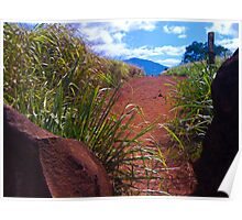 Red Dirt Path Poster