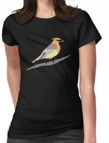 Cedar Waxwing Bird Womens Fitted T-Shirt