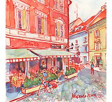 Coffee in Bratislava Photographic Print