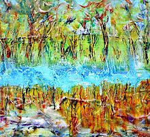 Detail from Marsh inlet by Regina Valluzzi