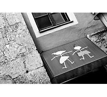 Tatty-Girl and Boy Photographic Print