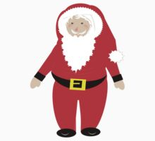 Jolly Santa Claus Happy Festive Christmas Theme One Piece - Short Sleeve