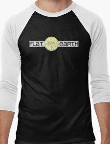 Flat Earth Men's Baseball ¾ T-Shirt