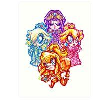 Chibi Nintendo Girls Art Print