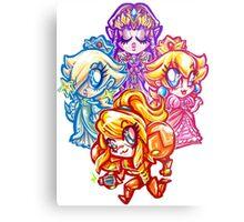 Chibi Nintendo Girls Metal Print