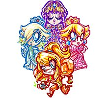 Chibi Nintendo Girls Photographic Print