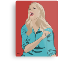 Grace Helbig Portrait Metal Print