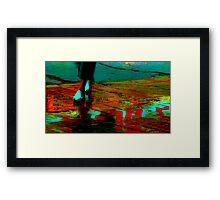 Careless Sandals Framed Print