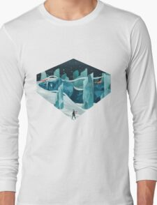 The wanderer and the ice forest Long Sleeve T-Shirt