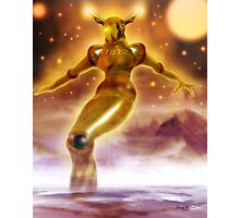 Golden Robot Photographic Print