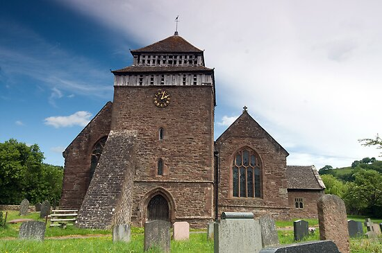 St.Bridgits Church,Skenfrith,Wales. by Roly01