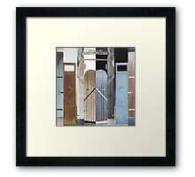 Island Doors Framed Print