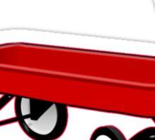 red wagon Chicago 1917 old school tee  Sticker