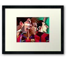 MSN Barca trio Framed Print