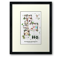 "Kusakabe Residence from ""Tonari no Totoro"" film Framed Print"