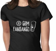 Grim Fandango (White) Womens Fitted T-Shirt