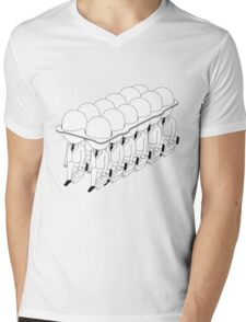One egg a day, 48 hours a week Mens V-Neck T-Shirt