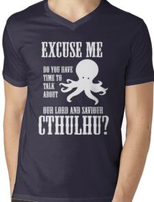Our Lord And Saviour Cthulhu Mens V-Neck T-Shirt