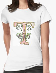 Illuminated T Womens Fitted T-Shirt
