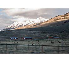 Montana Farm Photographic Print