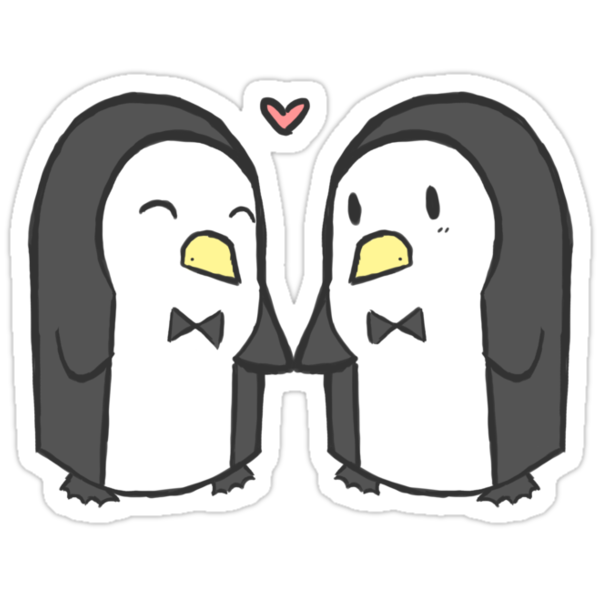 Penguin Couple by mcfoily