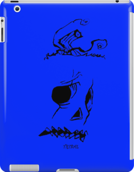 Pumpkinhead - Express Ya Face - Ipad Case - Blue by tribal191983