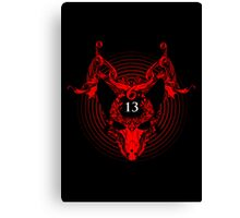 Unlucky Number 13 Canvas Print