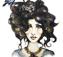 Bird // Fashion Illustration by paperinkart