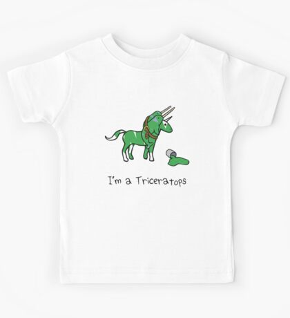 I'm A Triceratops (Unicorn + Narwhals) Kids Tee