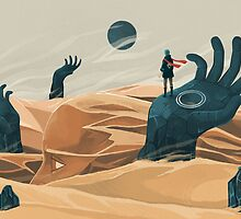 The wanderer and the desert portals by Reno Nogaj