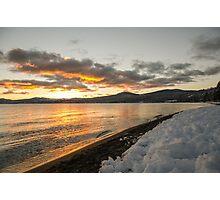 Kings Beach Sunset Winter Photographic Print