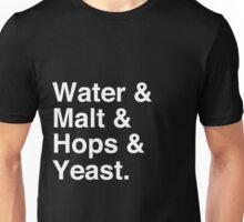 Water & Malt & Hops & Yeast T-Shirt Unisex T-Shirt