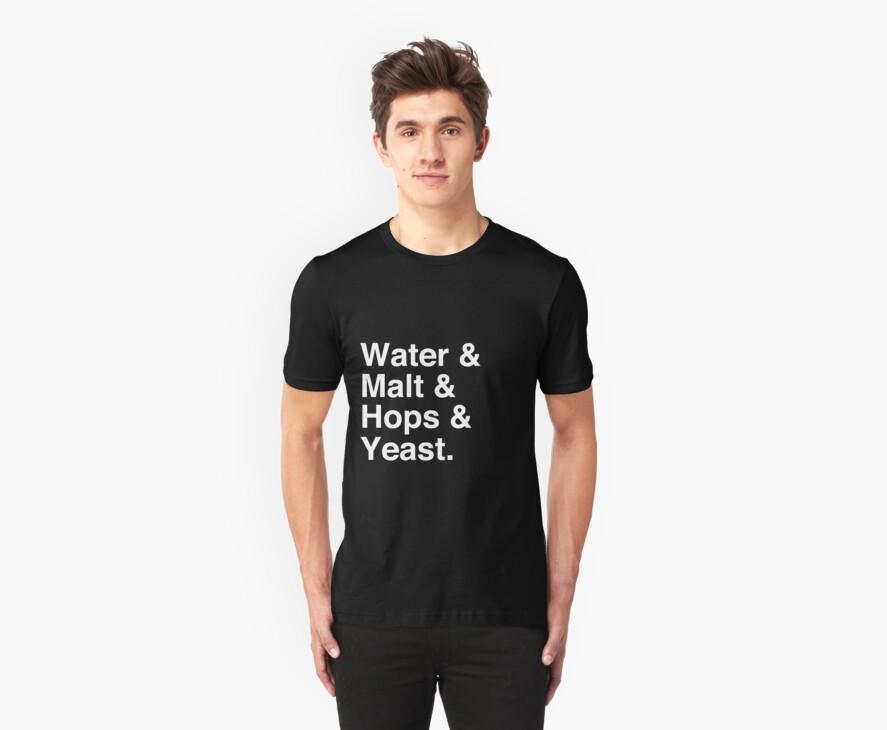 Water & Malt & Hops & Yeast T-Shirt by tcn33