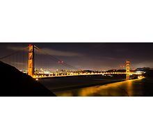 Golden Gate Night Panormaic Photographic Print