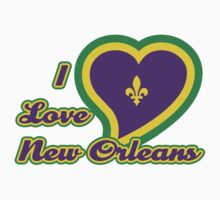 I Love New Orleans One Piece - Short Sleeve