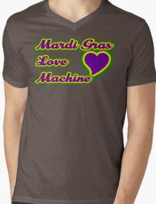 """Mardi Gras """"Love Machine"""" Mens V-Neck T-Shirt"""