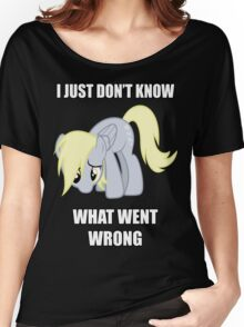 Derpy Doesn't Know What Went Wrong Women's Relaxed Fit T-Shirt