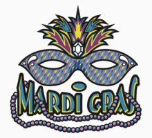 Mardi Gras Mask & Beads by HolidayT-Shirts