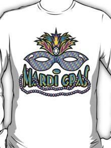Mardi Gras Mask & Beads T-Shirt