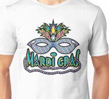Mardi Gras Mask & Beads Unisex T-Shirt