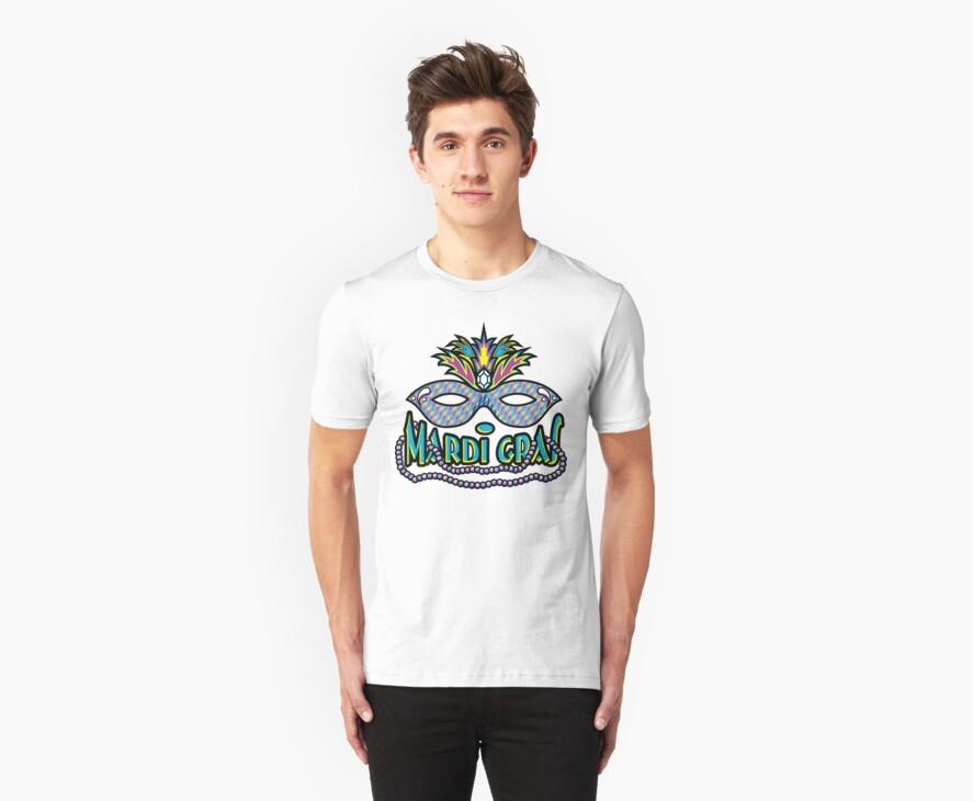 Mardi Gras Mask & Beads by HolidayT-Shirts