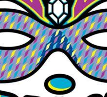Mardi Gras Mask & Beads Sticker