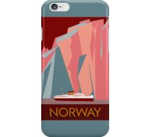 Norway fjords retro vintage style cruise travel  iPhone Case/Skin