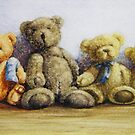 Teddy Bears All In A Row by Fiona  Lee
